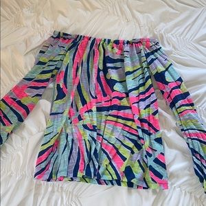 Lilly Pulitzer printed off the shoulder top